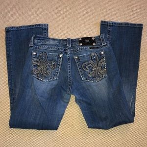 Miss Me Distressed Easy Boot Cut Jeans